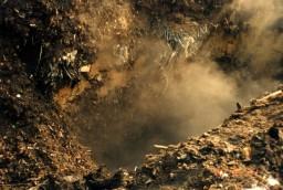 穴へ埋め込まれたゴミ