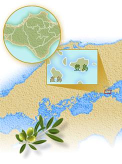 豊島は、小豆島の西方3.7kmの海上にあり面積14.6平方kmの小島で、香川県小豆郡土庄町に属しています。