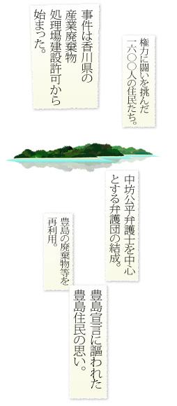 事件は香川県の 産業廃棄物 処理場建設許可から 始まった。